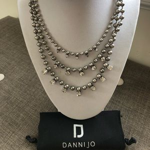 Dannijo Dagny Silver & Crystal Necklace